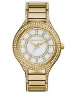 Michael Kors Kerry Pav©-Embellished Gold-Tone Watch