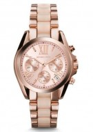 Michael Kors Mini Bradshaw Acetate And Rose Gold-Tone Watch