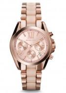 Michael Kors Mini Bradshaw Acetate And Rose Gold-Tone Watch
