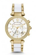 Michael Kors Parker Pav© Gold-Tone Acetate Watch