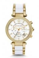 Michael Kors Parker Pav© Gold-Tone Acetate Watch