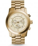 Michael Kors Runway Oversized Gold-Tone Stainless Steel Watch