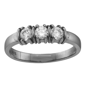 Mothers Ring Style 109 Birthstone Ring with 3 Stones