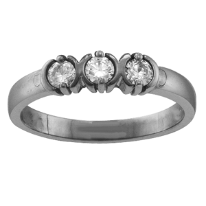 Mothers Ring Style 110 Birthstone Ring with 3 Stones