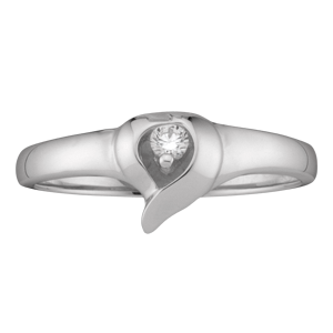 Mothers Ring style 157 Birthstone Ring with 1 Stone