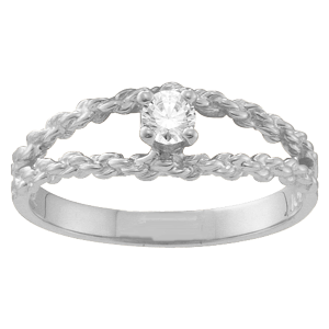 Mothers Ring Style 17 Birthstone Ring with 1 Stone
