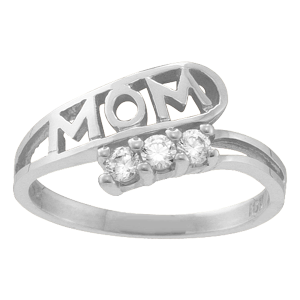 Mothers Ring Style 30 Mom Birthstone Ring with 3 Stones