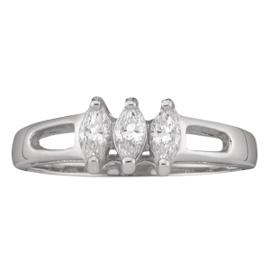 Mothers Ring Style 35 Birthstone Ring with 3 Stones