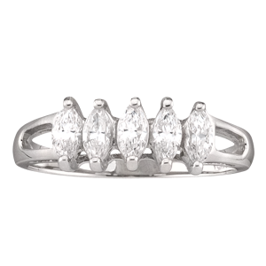 Mothers Ring Style 35 Birthstone Ring with 5 Stones