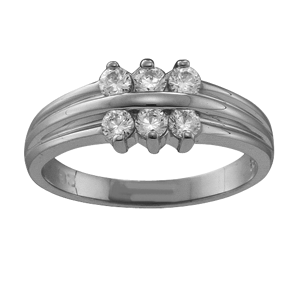 Mothers Ring Style 45 Birthstone Ring with 6 Stones