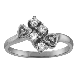 Mothers Ring Style 46 Birthstone Ring with 4 Stones