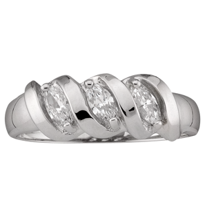 Mothers Ring Style 47 Birthstone Ring with 3 Stones